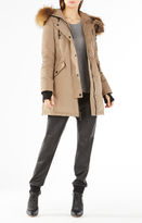 BCBGMAXAZRIA Sahara Fur Hooded Long Puffer Jacket