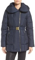 Cole Haan Quilted Coat with Oversize Collar
