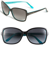Kate Spade Women's 58Mm Two-Tone Sunglasses - Black Turquoise