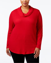 Style&Co. Style & Co Plus Size Cowl-Neck Top, Only at Macy's