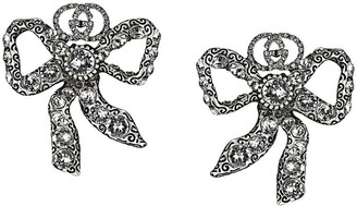 Gucci Crystal Bow Earrings
