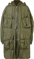 Juun.J hooded military jacket - men - Cotton/Nylon/Polyester - 46