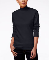 Karen Scott Mock-Turtleneck Top, Only at Macy's