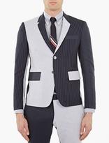 Panelled Stripe Cotton Blazer