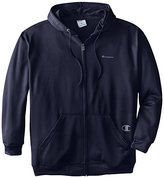 Champion Men's Big-Tall Polyester Fleece Full Zip Hoodie