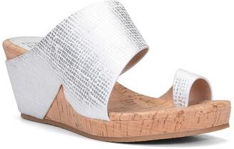 Donald J Pliner Gretta Leather Wedge Sandal