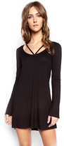 Michael Lauren Bailor Cut Out Neck Dress in Black