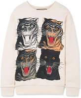 Gucci Printed Cotton-jersey Sweatshirt - Cream