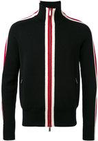 DSQUARED2 stripe panel zipped cardigan