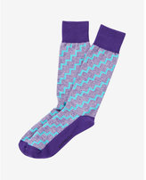 Express staircase print dress socks