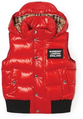 Burberry Kids Detachable Hood Gilet (3-12 Years)
