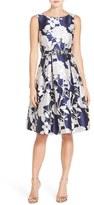 Eliza J Women's Belted Jacquard Midi Dress