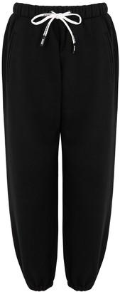 Natasha Zinko X DUO Black Cotton-blend Sweatpants