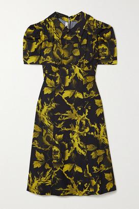 McQ Satomi Floral-print Crepe De Chine Dress