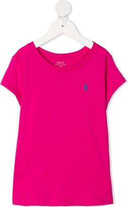 Ralph Lauren Kids Signature Logo Embroidered T-Shirt