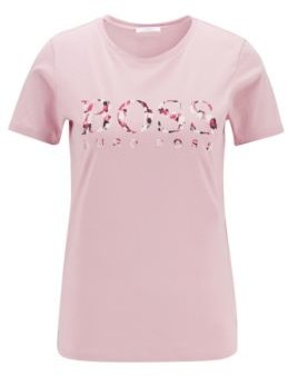 HUGO BOSS Crew-neck T-shirt in cotton with seasonal logo print