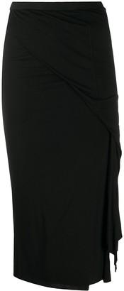 Rick Owens Lilies Layered Midi Skirt