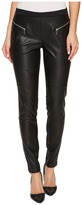 MICHAEL Michael Kors Faux Leather Front Moto Leggings Women's Casual Pants