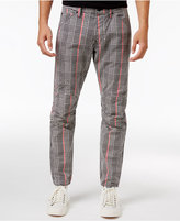 G Star Men's Slim-Fit Elwood X25 Prince of Wales Check Print Pharrell Jeans