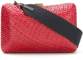 Serpui Marie straw clutch bag
