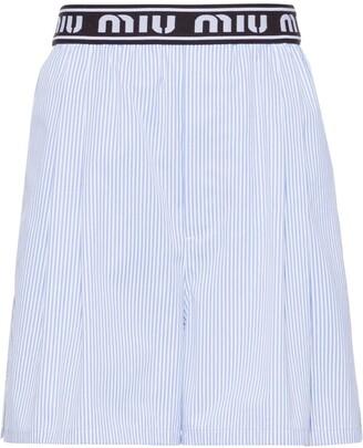 Miu Miu Striped Shorts