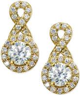 Giani Bernini Cubic Zirconia Halo Infinity Drop Earrings, Only at Macy's