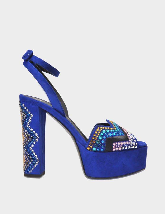 Giuseppe Zanotti Boom Ricamo ankle sandal