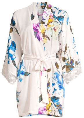 In Bloom Still In Love Floral Satin Robe