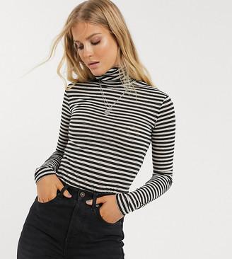 AllSaints exclusive stripe roll neck top