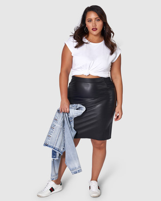 Sunday In The City - Women's Black Leather skirts - Feel The Love Pu Midi Skirt - Size One Size, 20 at The Iconic