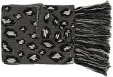 Alanui leopard intarsia scarf