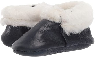 Freshly Picked Navy Shearling Moccasin (Infant/Toddler) (Navy) Kid's Shoes