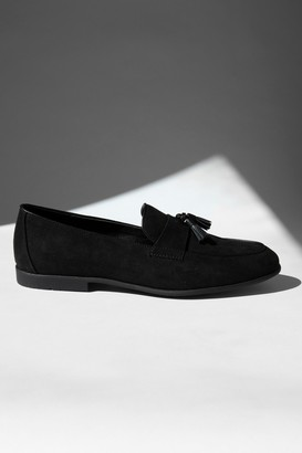 Topman Black Faux Suede Piper Loafers