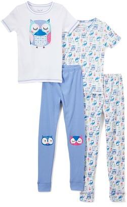 Rene Rofe Girl Girls' Sleep Bottoms ASSTPRINTS - White & Light Blue Owl Pajama Set - Toddler & Girls
