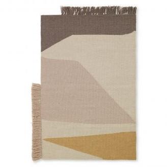 ferm LIVING 70 x 50cm Woolen Earth Doormat - Wool / Cotton   sand - Sand