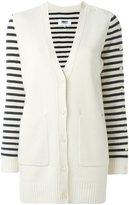 MM6 MAISON MARGIELA striped sleeves cardigan