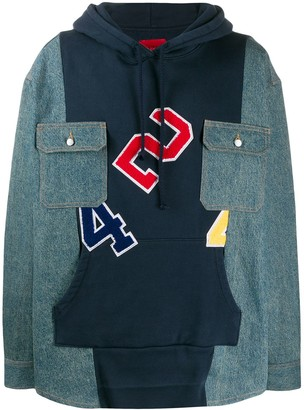 424 Panelled Patch Pocket Hoodie