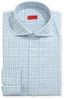 Isaia Unconventional Check Dress Shirt