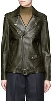 Theory 'Tralsmin' belted lambskin leather moto jacket