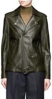 Theory 'Tralsmin' belted lambskin leather moto jacket