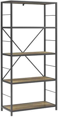 Hewson 63In Rustic Industrial Bookcase