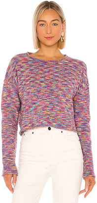 John & Jenn by Line X REVOLVE Shiloh Fuzzy Rainbow Space Dye Sweater