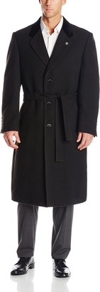 Stacy Adams Men's Big-Tall Lance Three Button Full Length Top Coat