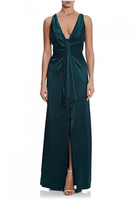 Aidan Mattox Liquid Satin Draped Gown