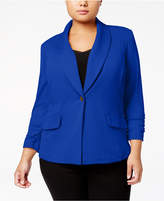 Kasper Plus Size Shawl-Collar Blazer