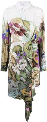 Off-White Botanical-Print Shirt Dress