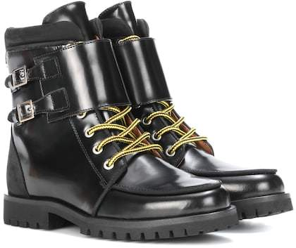 Ganni Dora leather ankle boots