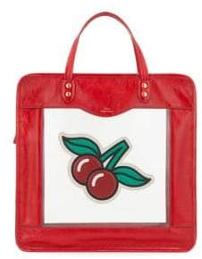 Anya Hindmarch Cherry Leather Tote