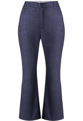 Gisy Indigo Blue Denim Effect Jogger Pants