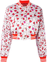 Diesel heart print bomber jacket - women - Cotton/Acrylic/Nylon - XS